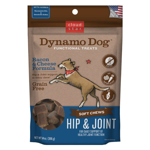 Cloud Star Dynamo Dog Hip and Joint Functional Treat Pouches, Bacon and Cheese, 14Ounce Picture