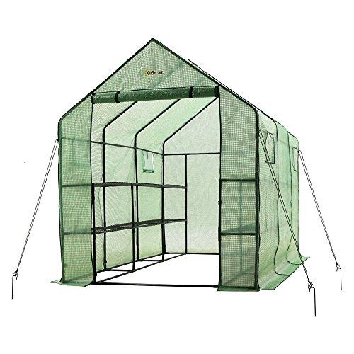 Ogrow-Walk-in-2-tier-Portable-Garden-Greenhouse-with-Windows