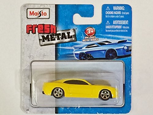 Maisto Fresh Metal Die-Cast Vehicles ~ 2006 Chevrolet Camaro Concept (Yellow)