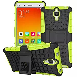 ImagineDesign™ Defender Tough Hybrid Armour Shockproof Hard PC + TPU with Kick Stand Rugged Back Case Cover for XIAOMI MI 4 MI4 - Green