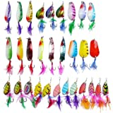30 SPINNER/SPOON LEURRES cuilleres PÊCHE bass salmon TROUT