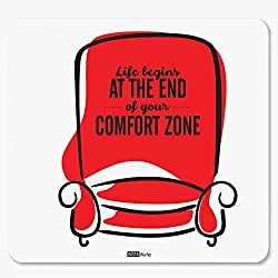 InstaNote Life Begins At The End Of Your Comfort Zone Motivational Mousepad