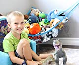 MiniOwls TOY STORAGE HAMMOCK XL Organizer in Blue (also comes in White & Pink) De-cluttering Solution & Inexpensive Idea for Every Room at Home or Facility - 3% is Donated to Breast Cancer Foundation