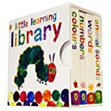 The Very Hungry Caterpillar Little Learning Library 4 Board Books Collection Set Eric Carle (Board Book) (Colours, Animal Sounds, Words, Numbers) ~ Eric Carle