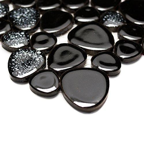 mosaic-tile-bathroom-ceramic-classic-pebble-plain-black-5-mm-new-193