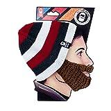 Beard Head® - The Original Stubble Cruiser Knit Beard Beanie (Brown)
