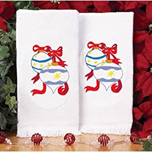 Ornaments Terry Towel Pair Stamped Embroidery Kit