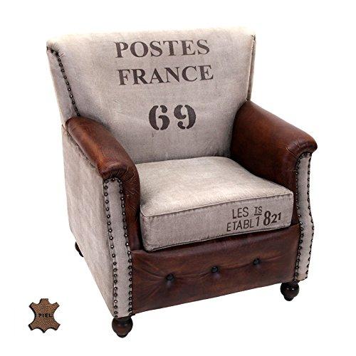 Indhouse - Sillón de lectura vintage en piel France 69