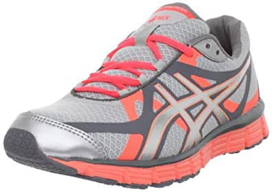 ASICS Women's GEL-Extreme33 Running Shoe, Lightning/Silver/Neon Coral, 10 M US