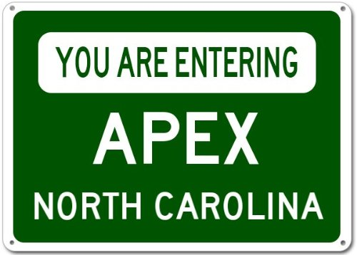 Apex City Sign
