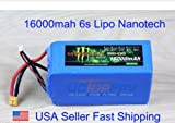 Monster Nano Tech 6S 16000 mAh Lipo Battery 22.2v 25c DJI S800 evo S1000 Zenmuse