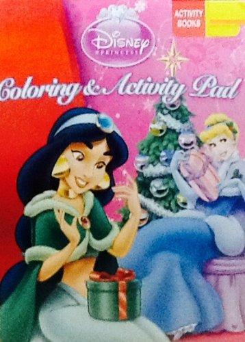 Disney Princess! Coloring & Activity Flip Top Pad! 64 Pages!!! Holiday Book! Christmas! - 1
