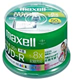 maxell 録画用1-8倍速DVD-R 標準120分 50枚パック スピンドルケース プリンタブルひろびろ超美白DR120WPB.50SP A T