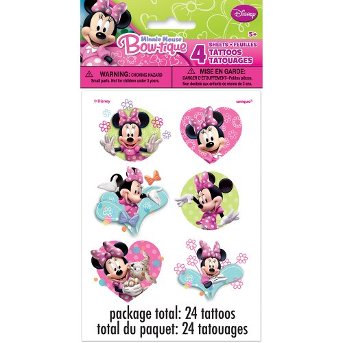 Minnie Mouse Tattoos, 24ct - 1