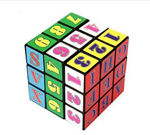 Liroyal New Style Fancy Rubik's Cube Baby Early Education Hexahedron Toy Intellectual Development Alphanumeric Rubik's Cube - 1