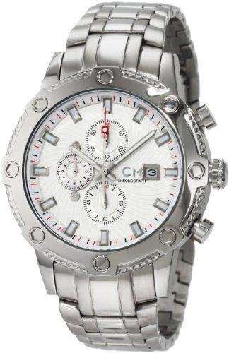 Carlo Monti - CM100-111 - Montre Homme - Quartz - Analogique - Chronomètre - Bracelet Acier inoxydable Argent