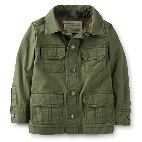 Carter'S Boys Ripstop Cargo Jacket (3T, Olive Green) front-684547