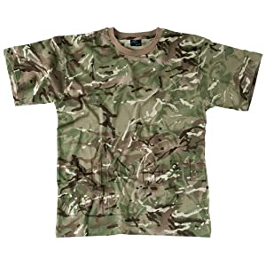 Helikon Military Tactical Combat Mens T-Shirt Airsoft 100% Cotton MTP Camo from Helikon