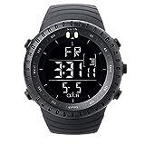 O.T.S Men's Outdoor Waterproof LED Digital Sports Watches Black