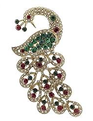 Syonaa Brooch In Peacock Design