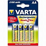 Varta Power Accu AA 4 Pack - 2100 mAh Ready2Use Rechargeable Batteries