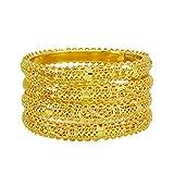 Banithani Or 18K Micron Polonais Jeu De Bracelets Cadeau De Bijoux Traditionnels Pour