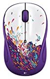 Logitech M325 Wireless Mouse Purple-white