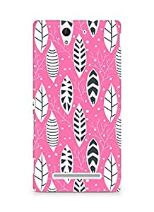 Amez designer printed 3d premium high quality back case cover for Sony Xperia C3 D2502 (Flowers Pattern)
