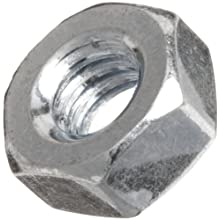 Hex Nut, Steel, Zinc Plated Finish, Inch, Right Hand Threads, Meets ASME B18.6.3 Specifications