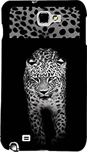 PrintVisa 2D-SGN2-D8146 Animal Leopard Pattern Case Cover for Samsung Galaxy Note 2