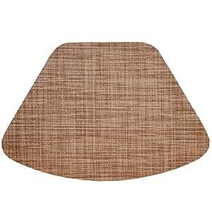 Amazon Com Set Of 2 Brown Tan Wipe Clean Wedge Shaped