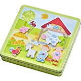 HABA Peter And Pauline's Farm Magnetic Game With 4 Background Scenes In Storage Tin