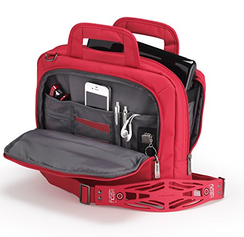 i-stay 13.3 inch Tablet/Netbook/Ultrabook Bag with Non-slip Shoulder Strap - Red