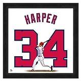 (フォトファイル)Photo File MLB ナショナルズ #34 ブライス・ハーパー 20x20 Uniframe