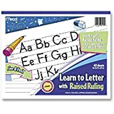 Mead See and Feel Learn to Letter Raised Ruling Grades PK-1, 10 x 8 Inches, 40 Count (48170)