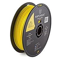 HATCHBOX 3D PLA-1KG3.00-YLW PLA 3D Printer Filament, Dimensional Accuracy +/- 0.05 mm, 1 kg Spool, 3.00 mm, Yellow from HATCHBOX