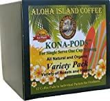 Senseo Pods Variety Pack, Try All of Our Kona-Pods from our Chefs Tasting Collection, Six Roasts & Flavors in One Box, 12 Pods