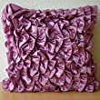 Vintage Vines - Throw Pillow Covers - Satin Pillow Cover with Satin Ruffles