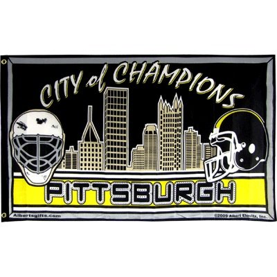 Flag City Of Champs Skyline W/ Helmets 3 X 5 at Steeler Mania
