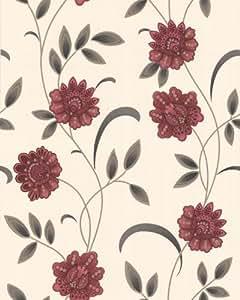56 sq. ft. Sadie Red Wallpaper - - Amazon.com