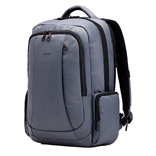 fubevod-waterproof-backpack-travel-rucksack-with-padded-laptop-156-compartment-dark-grey