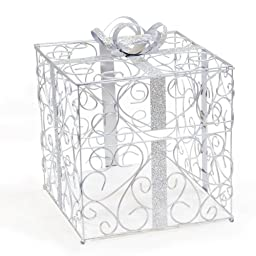 Cathy\'s Concepts Reception Gift Card Holder, Silver