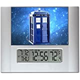 Dr. Doctor Who Tardis Digital Wall or Desk Clock with Temperature and Alarm