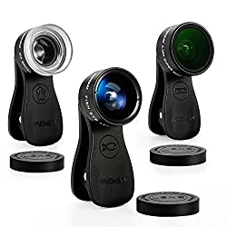 Mpow MLens V1 Clip-On 180 Degree Fisheye Lens + 0.36X Wide Angle Lens for iPhone, Samsung, HTC, etc