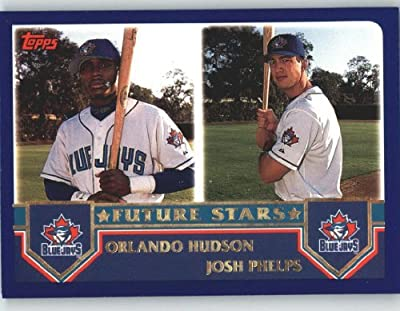 2003 Topps #326 O.Hudson/J.Phelps FS Toronto Blue Jays Baseball Card In Protective Screwdown Case