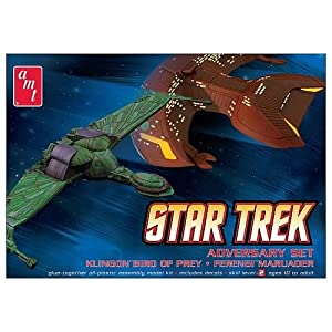 1 X Star Trek Adversary Set Klingon Bird of Prey & Ferengi Marauder AMT