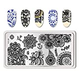 Summer Fruit Nail Art Stamping Template Tropical Punch Pattern Rectangle Image Plate Stamping Polish Needed BP-L014 (Color: BP-L014)