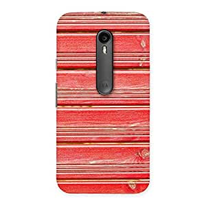 Delighted Red Woodlock Print Back Case Cover for Moto G3