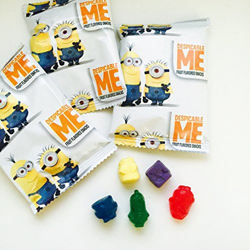 Despicable Me Minions Assorted Fruit Jelly Snacks Made From Real Fruit Juice .08 Oz (10 Pouches) (Minions Fruit compare prices)
