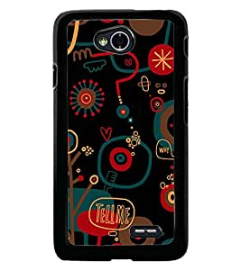 Fuson Premium Tell Me Metal Printed with Hard Plastic Back Case Cover for LG L70